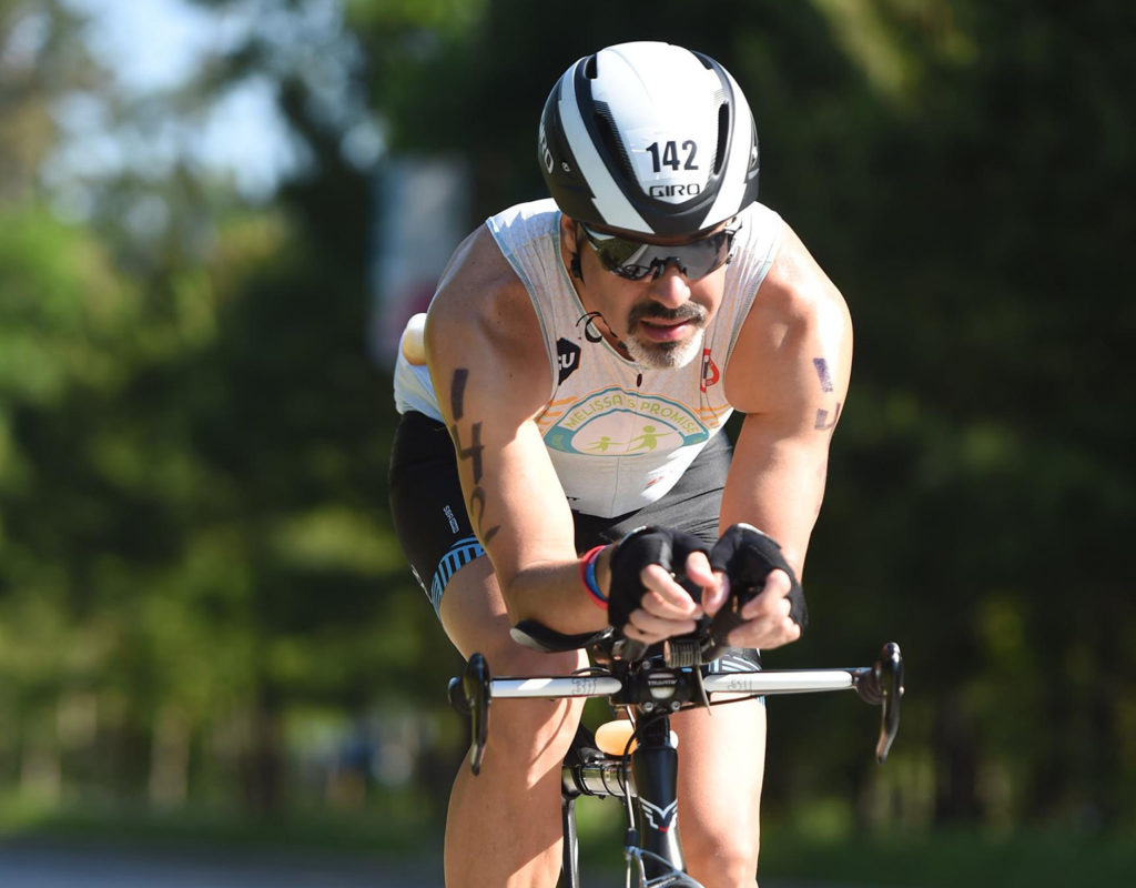 Scott Stevens rides in Ironman Texas 2019